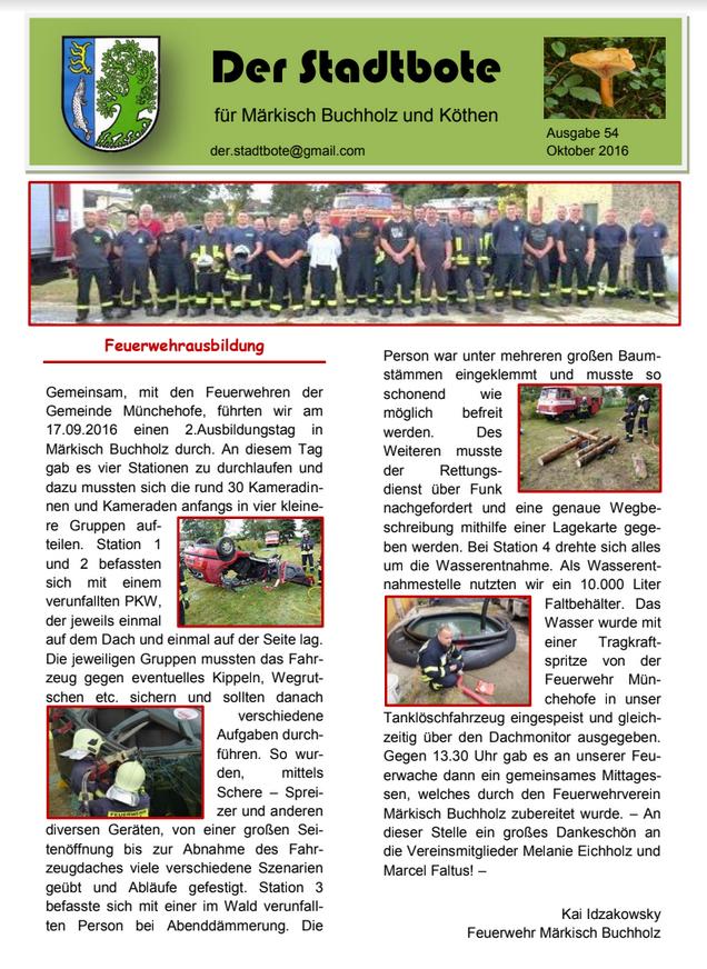 Ausgabe 54 - Oktober 2016