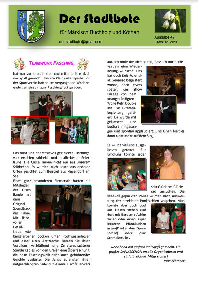 Ausgabe 47 - Februar 2016