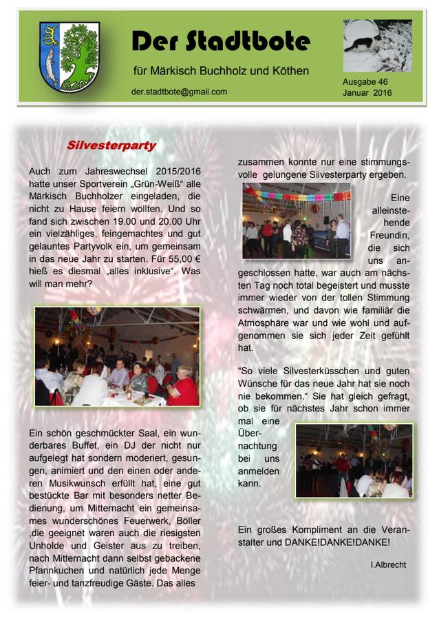 Ausgabe 46 - Januar 2016