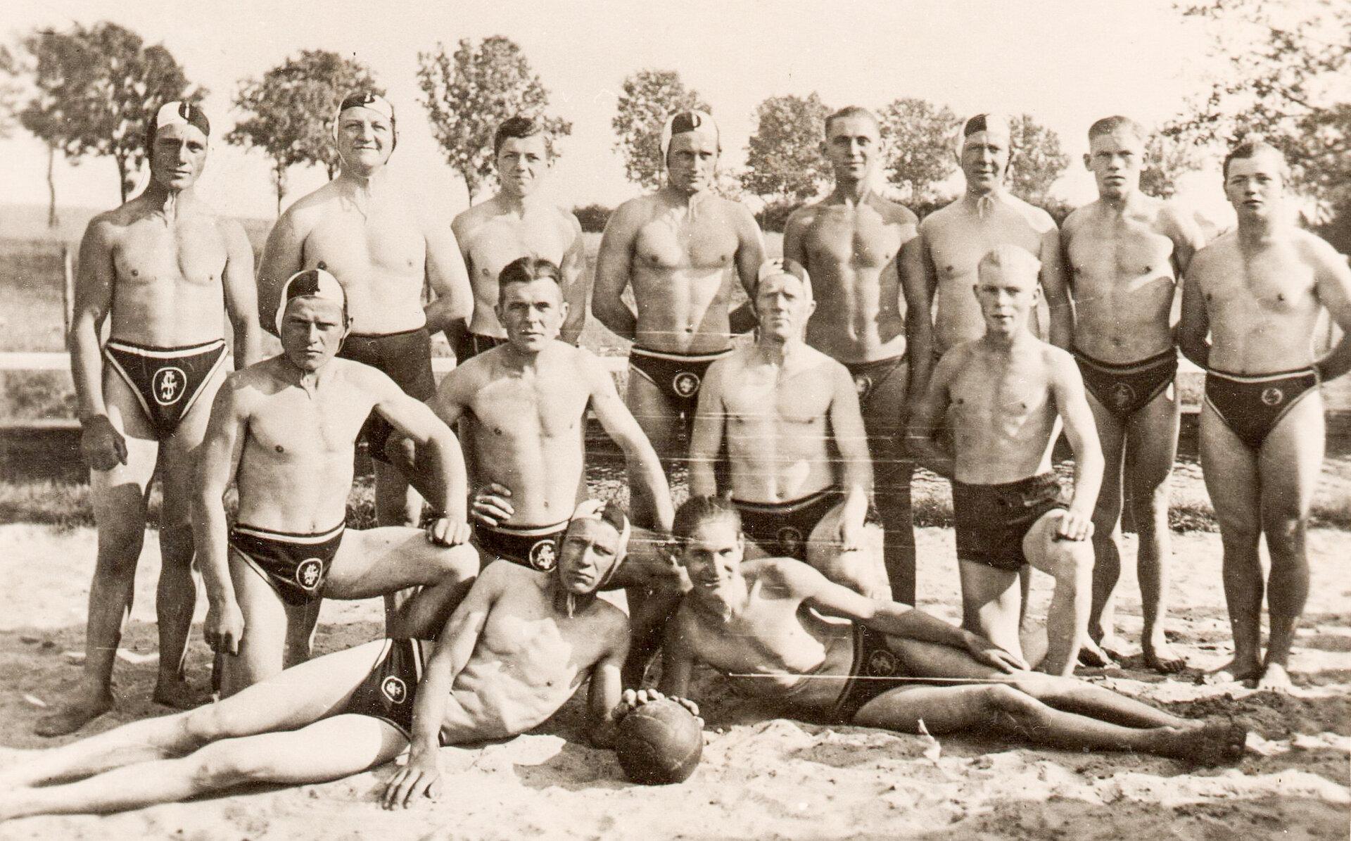 Wasserballspiel-Mannschaft der Freien Turner aus Pritzwalk und Perleberg, um 1930. Quelle: Museum