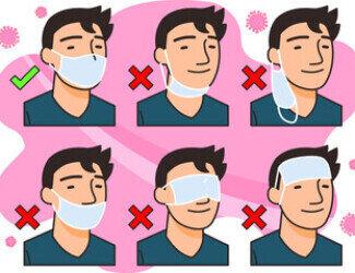 Maske richtig tragen