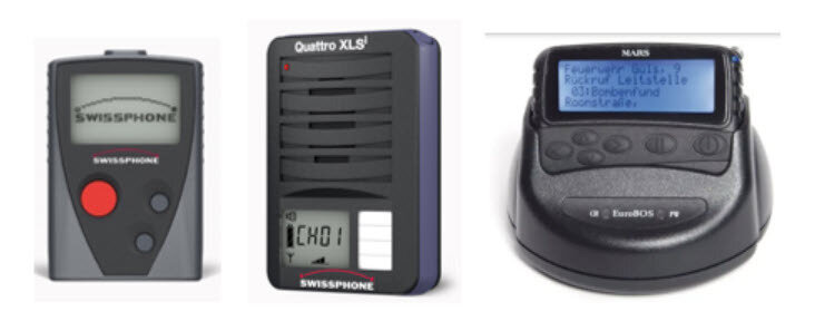 Funkmeldeempfänger digitale Technik – Fotos: Swissphone, EuroBOS