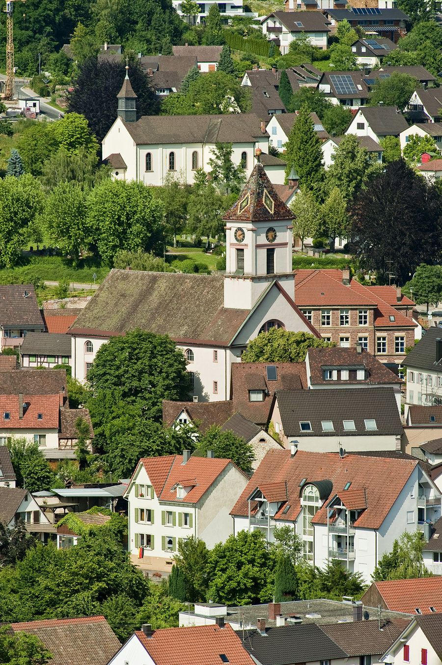 Blick Ortskern Kirchen