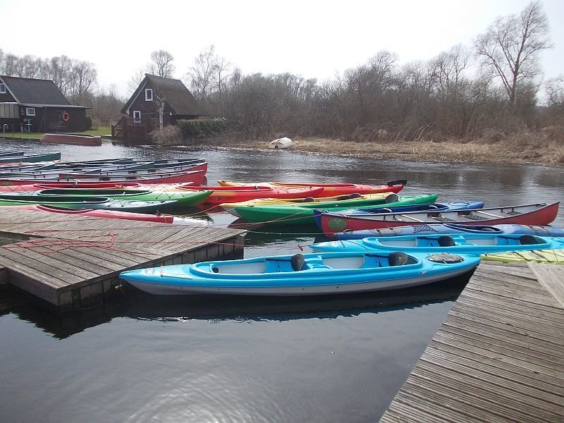 "2er Kajak ""pelican"" auf der Recknitz - Marlower Kanu- & Bootsverleih"