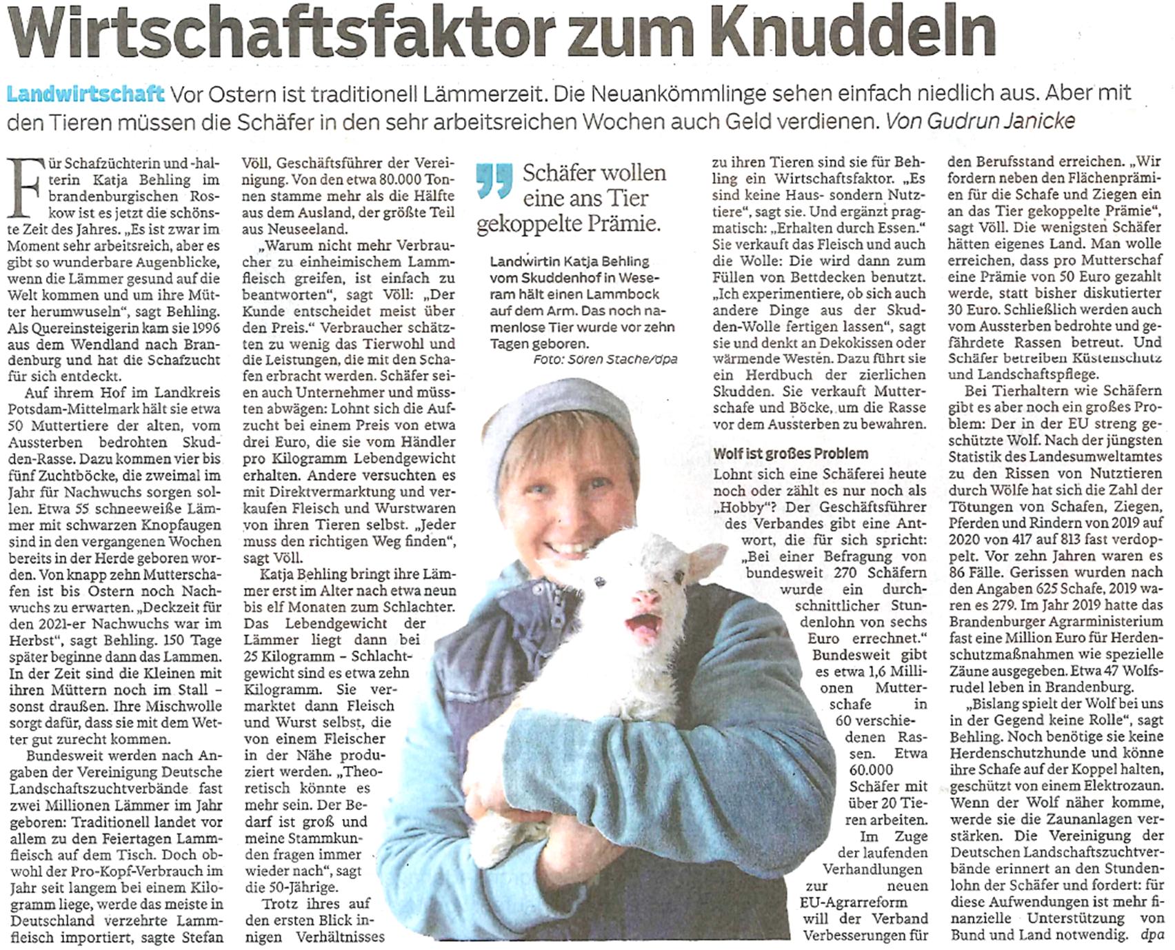 Knuddel Skudden zu Ostern