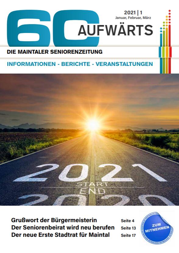 Bild zeigt Cover der 60 Aufwärts 1/2021