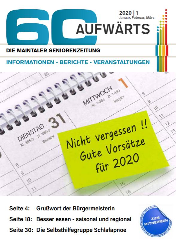 Bild zeigt Cover der 60 Aufwärts 1/2020