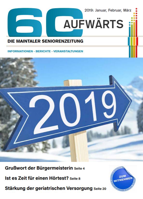Bild zeigt Cover der 60 Aufwärts 1/2019
