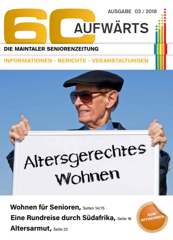 Bild zeigt Cover der 60 Aufwärts 3/2018