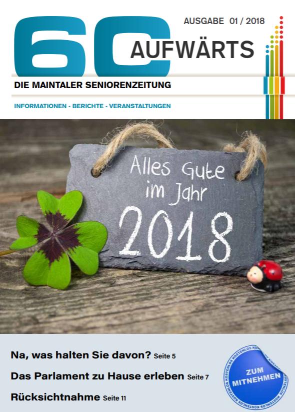 Bild zeigt Cover der 60 Aufwärts 1/2018