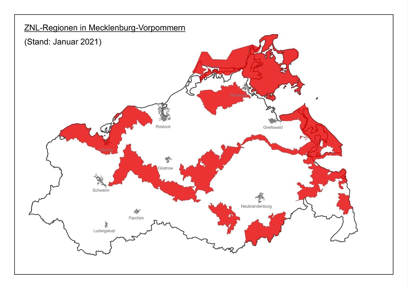 znl regionen mv stand januar 2021