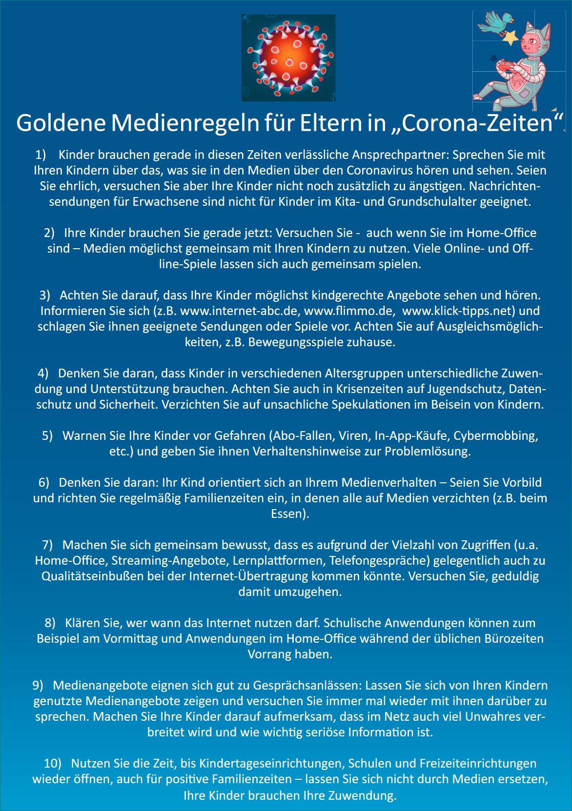 goldene Medienregeln