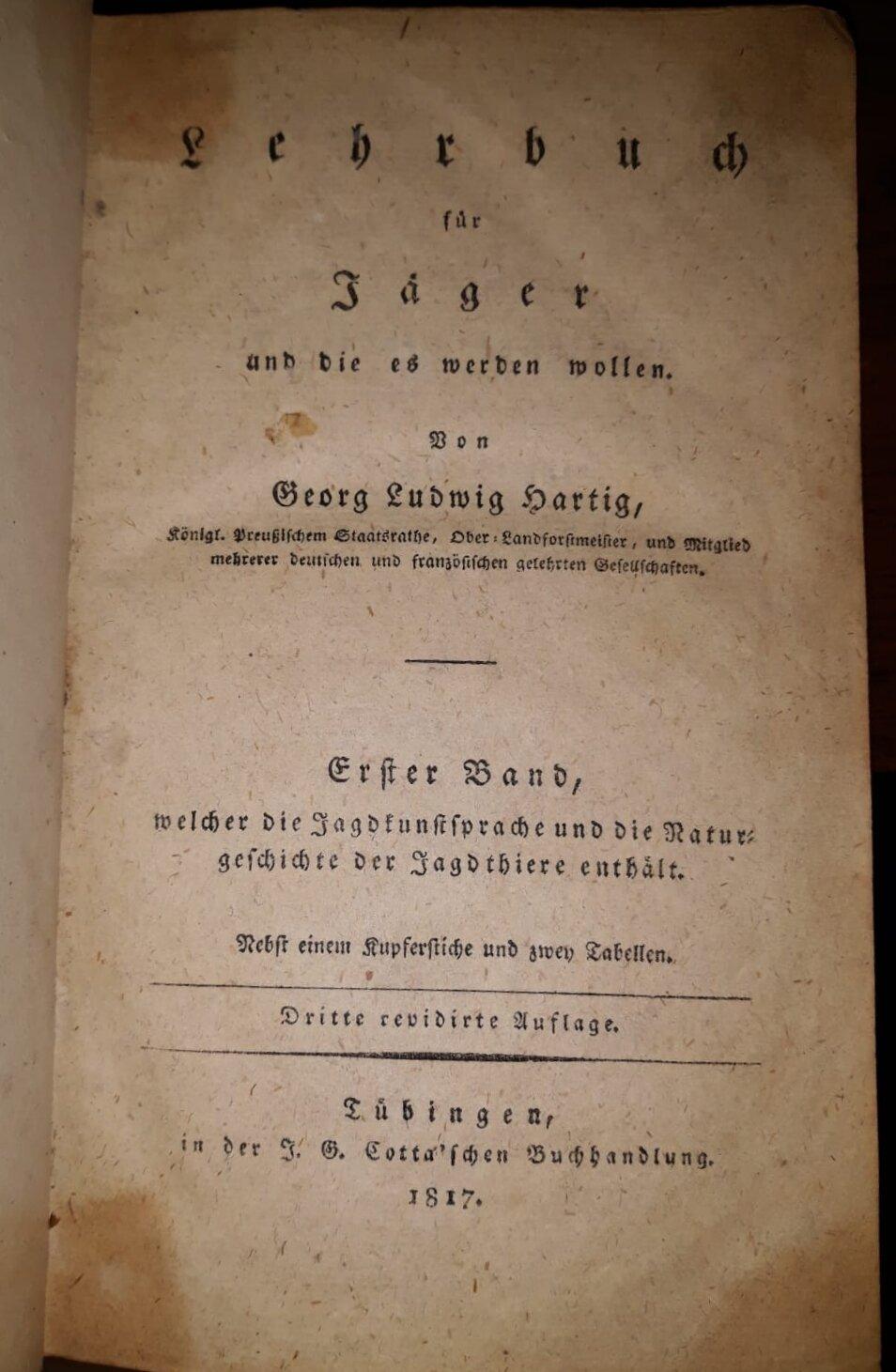 Lehrbuch des Jägers