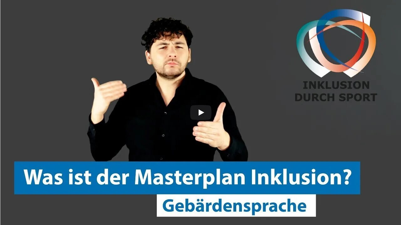 Masterplan in Gebärdensprache