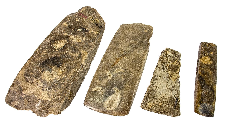 jungsteinzeitliche Feuersteinbeile aus dem Museum Angermünde