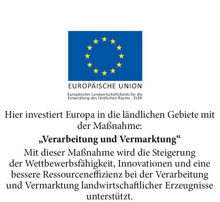 Hinweis EU Förderung