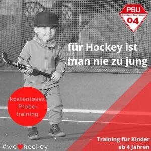 Probetraining Hockey Kleine