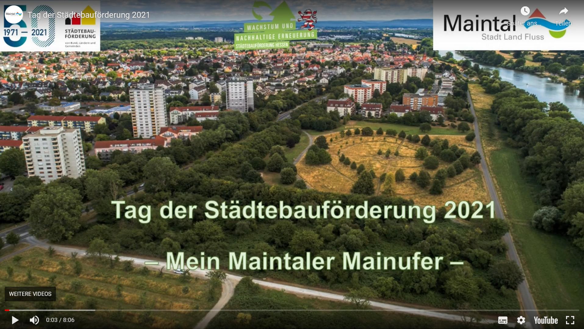 Video zum Tag der Städtebauförderung 2021 - Mein Maintaler Mainufer