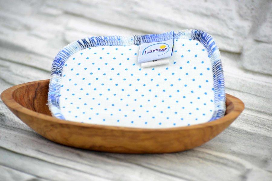 Spülschwamm aus Bio-Baumwolle, waschbar und wiederverwendbar; ökologisch, hygienisch, rein