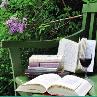 Im Garten vorgelesen, Foto: Kerstin Reimann