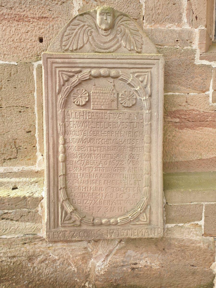 Epitaph Nr.1 Henrich Ludwig von Schmalhausen