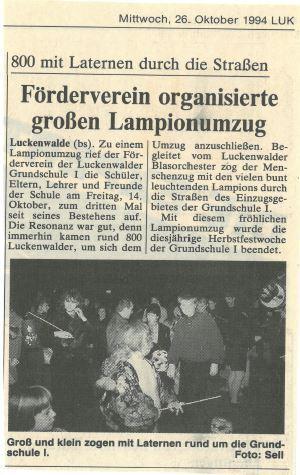 Lampionumzug 1994