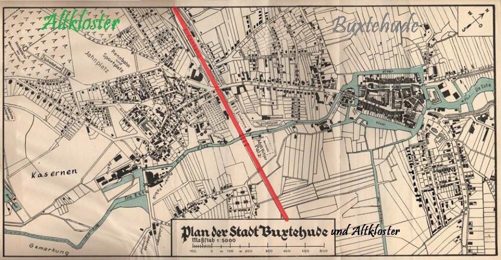 Stadtplan Buxtehude/Altkloster
