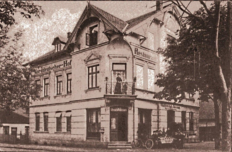 Lutherallee / Ecke Schulstraße Norddeutscher Hof ca. 1925