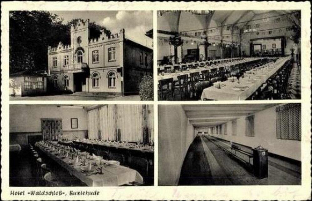 Hauptstraße Postkarte Hotel Waldschloss
