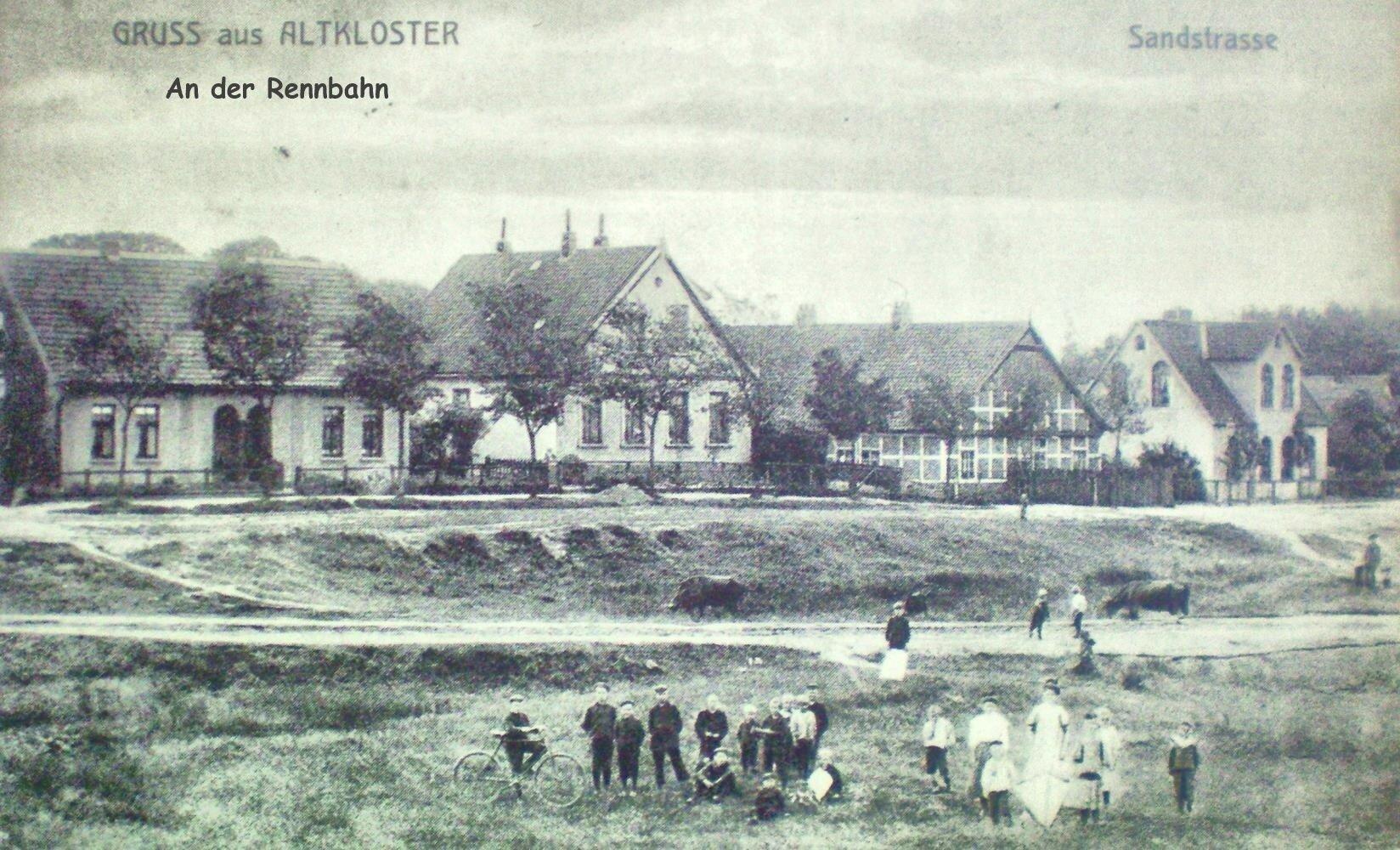An der Rennbahn Postkarte Sandstraße jetzt Jahnstadion