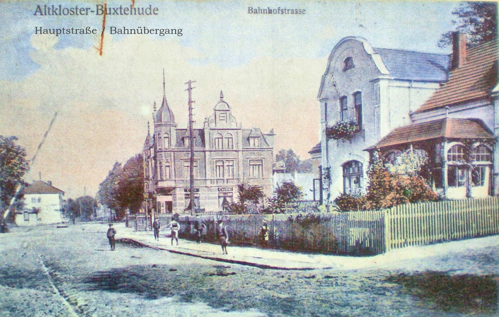 Hauptstraße bis Bahnübergang  Postkarte