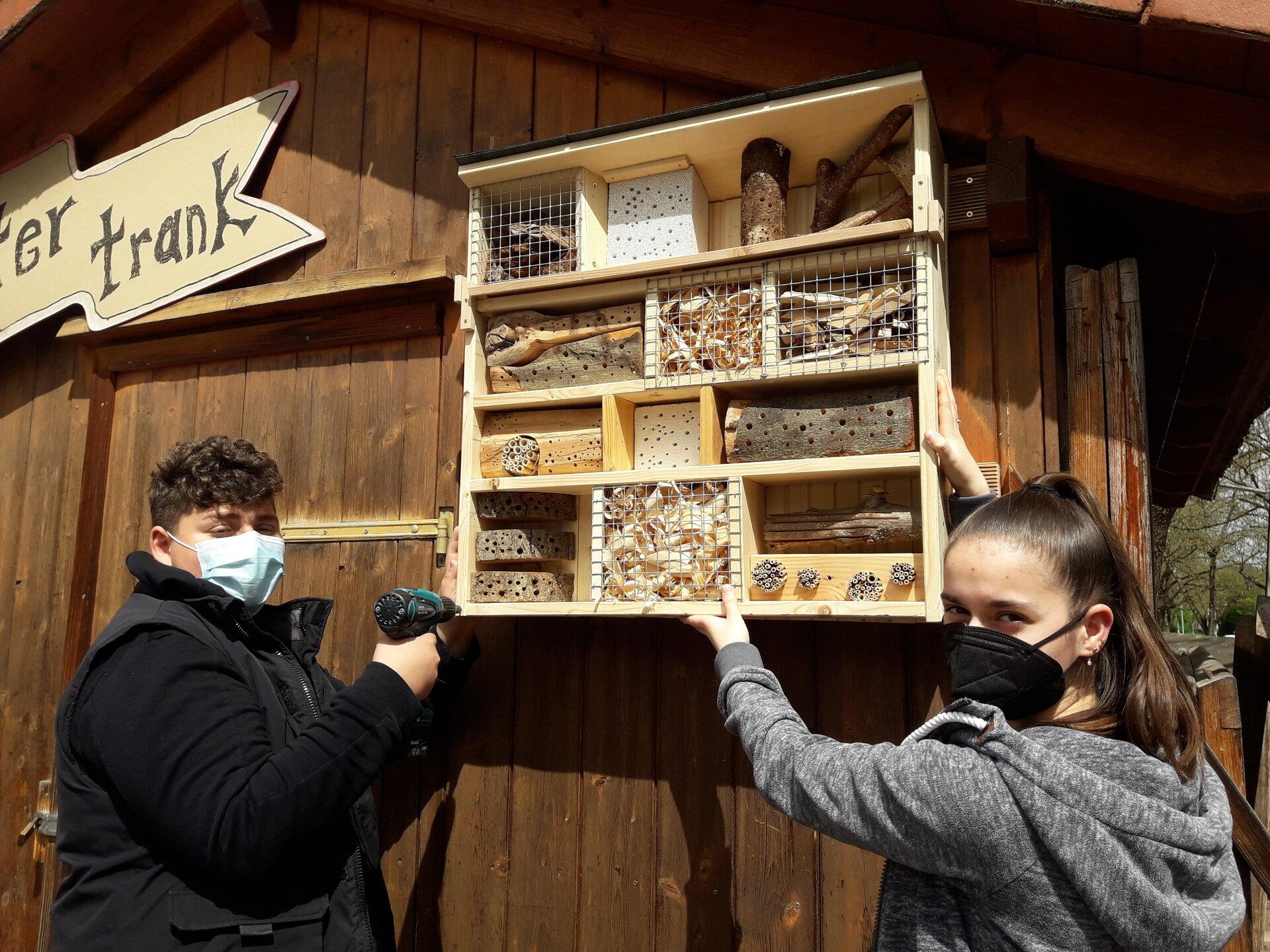 Insektenhotel Montage