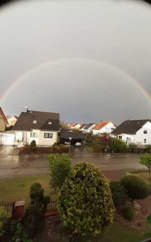 Regenbogen über Rehfelde