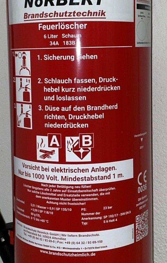 Kennzeichnung Feuerlöscher