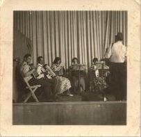 Bild: Dirigent Karl Eitel mit Orchester (1958)