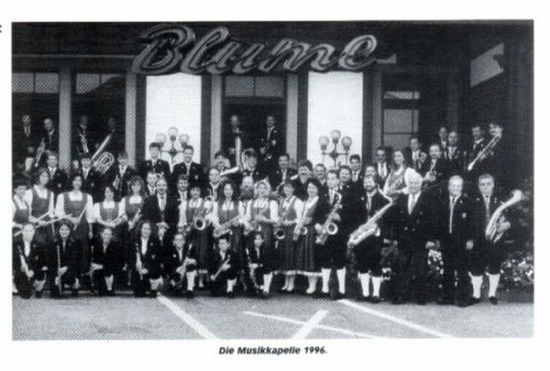 Musikkapelle 1996