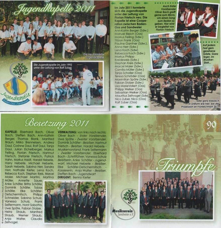 Jugendkappel und Besetzung 2011