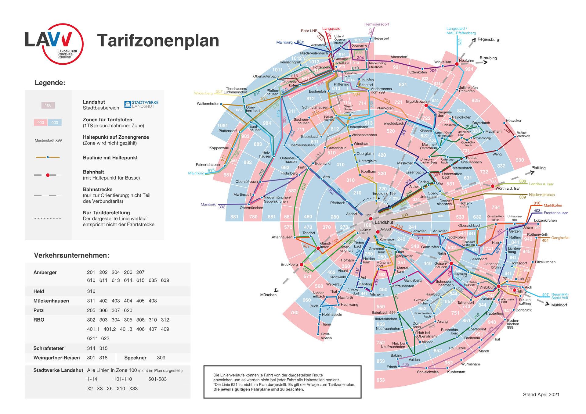 LAVV Tarifzonenplan April 2021