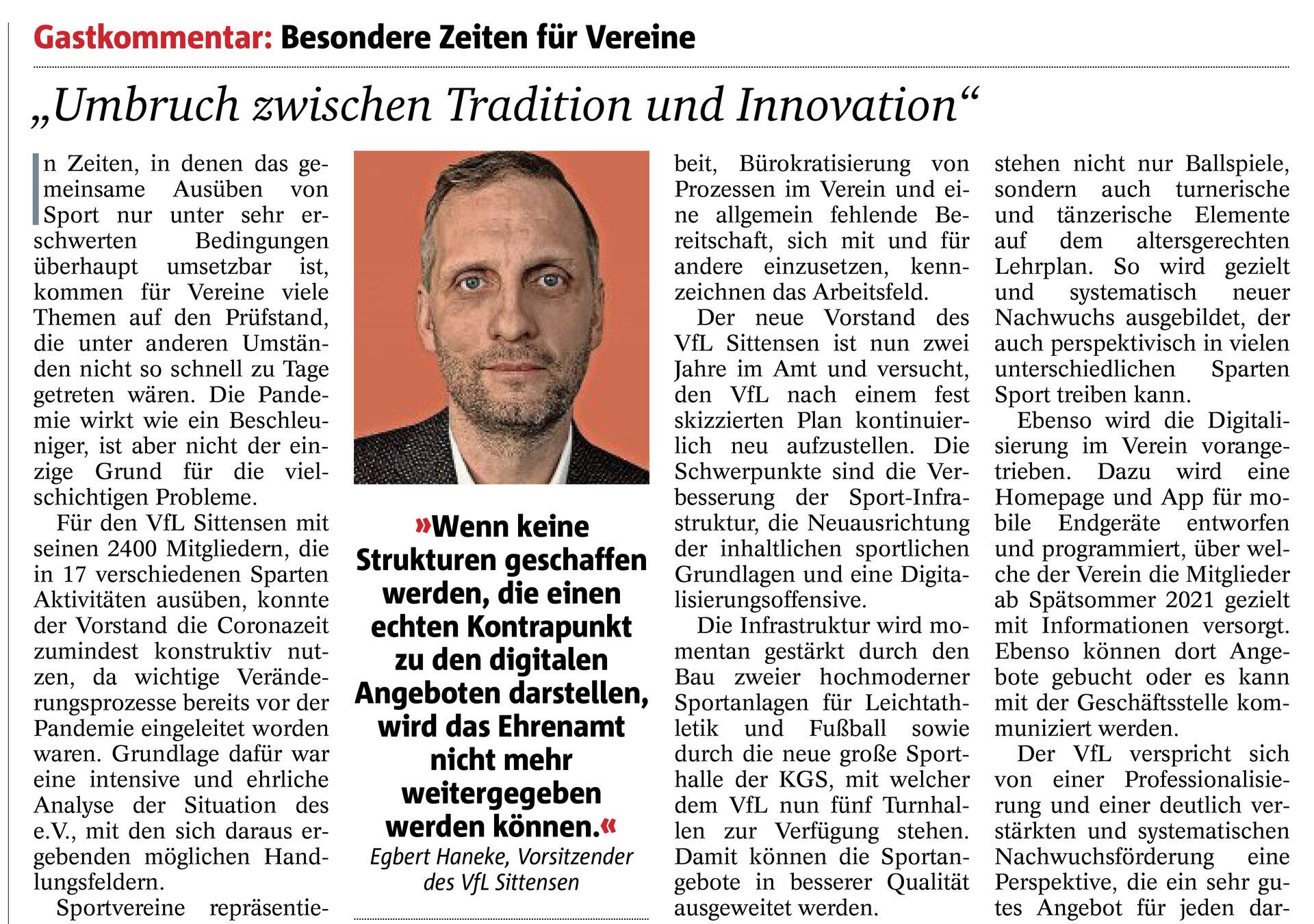 Zevener Zeitung Sonntagsjournal 30.5.2021