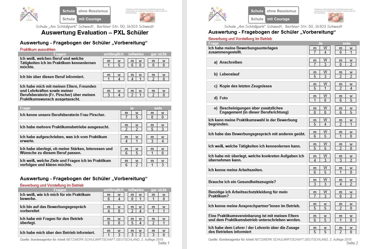 Evaluation Schüler Seite 1