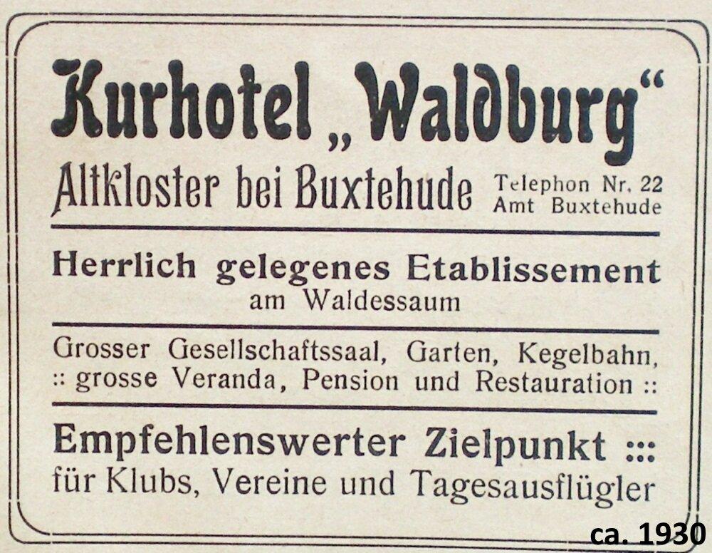 ca.1930 Kurhotel Waldburg
