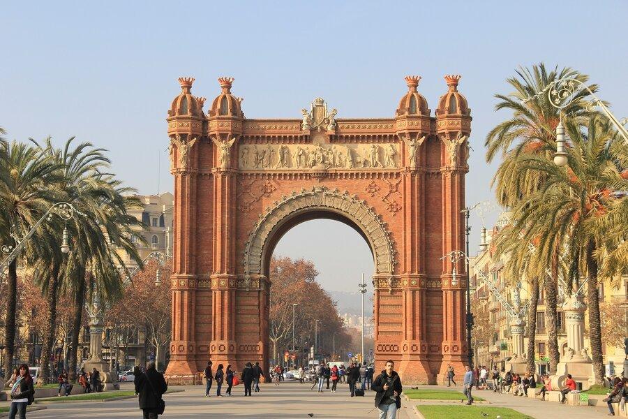 Bild zeigt den Triumpfbogen in Barcelona in Spanien; Foto: Pixabay