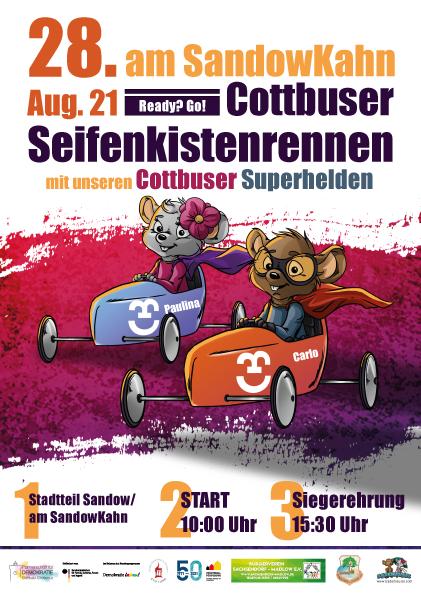 Plakat - Cottbuser Seifenkistenrennen