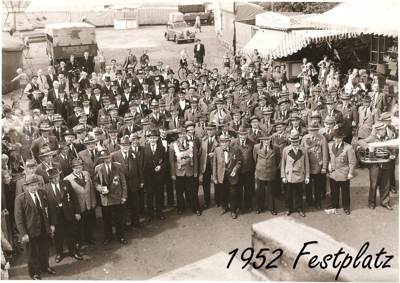 1952 Festplatz mit König Ludwig Eberstein