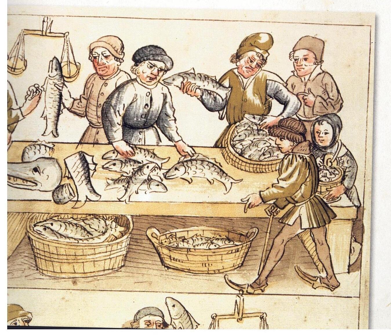 Mittelalterlicher Fischmarkt