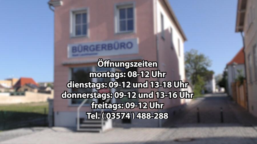 Das Bürgerbüro befindet sich in der wilhelm-Pieck-Str. 2 in Lauchhammer-Mitte