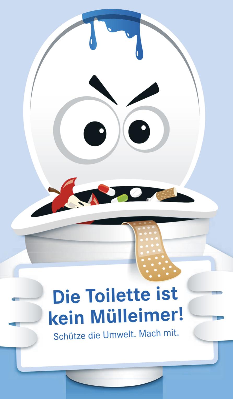 Die Toilette ist kein Mülleimer