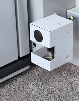 Aussenaufzug QuattroPorte mit externem Laserscanner wenn Grube vorhanden ist