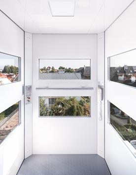 Panoramalift QuattroPorte mit Aussichtsfenstern