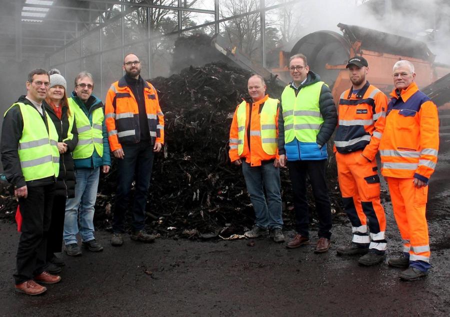 Delegation des BBH Eschwege, Mitarbeitern des ZVA WMK auf der Verwertungsanlage in Lohfelden